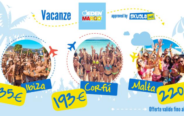 Viaggi di Maturità a Ibiza, Corfù o Malta da euro 193